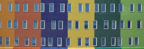 现代五颜六色的住房 库存照片