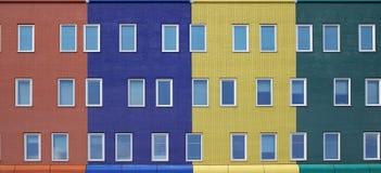 现代五颜六色的住房 免版税库存照片
