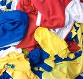 现代五颜六色的棉织物 库存图片