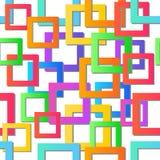 现代五颜六色的马赛克背景 无缝的纹理向量 抽象几何模式 免版税库存照片
