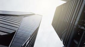 现代企业大厦,低角度视图 影视素材