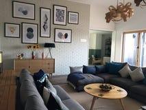 现代休息室区域风景 免版税库存照片
