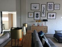 现代休息室区域风景 免版税库存图片