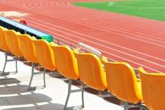 现代体育场椅子 免版税库存照片