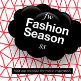 现代促进正方形网横幅时尚季节,社会媒介机动性apps的 在网上的典雅的电视节目预告横幅 免版税图库摄影