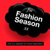 现代促进正方形网横幅时尚季节,社会媒介机动性apps的 在网上的典雅的电视节目预告横幅 免版税库存照片