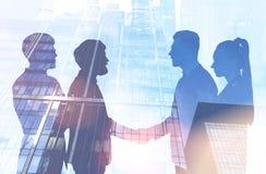 现代公司雇员协议,城市 皇族释放例证