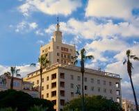 现代公寓在街市马拉加,西班牙 免版税图库摄影