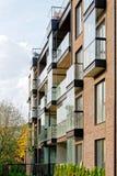 现代公寓居民住房玻璃建筑学  库存图片