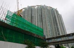 现代公寓建造场所  免版税库存照片