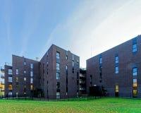 现代公寓玻璃建筑学  库存图片