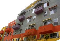现代公寓的对比 免版税库存照片