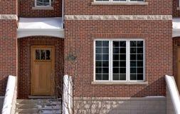 现代公寓的门面 免版税图库摄影