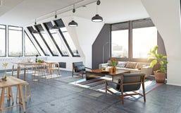 现代公寓设计 免版税库存图片