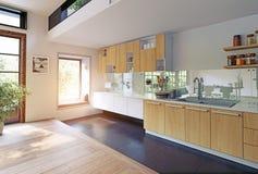 现代内部的厨房 向量例证