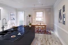 现代内部的厨房 库存图片