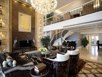 现代内部装饰业-客厅 免版税库存图片