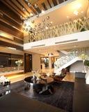 现代内部装饰业-客厅 免版税库存照片