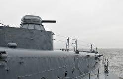 现代军舰 免版税库存图片