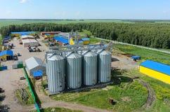 现代农业机器围场 俄国 免版税库存照片
