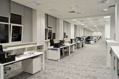 现代办公室内部 库存照片