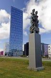 现代办公室塔在雷克雅未克,冰岛 库存照片