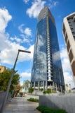 现代办公室IBM大厦在特拉唯夫,以色列进城  库存照片
