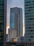 现代办公楼在东京六本木-伟大的建筑学-东京,日本- 2018年6月17日 图库摄影