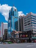 现代办公楼在东京浅草-东京,日本- 2018年6月19日 免版税库存照片