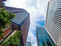 现代办公楼在东京-东京,日本- 2018年6月12日 库存照片