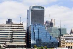 现代办公楼在伦敦,中心商务区,伦敦市,伦敦,英国 库存图片
