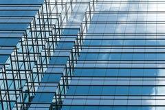 现代办公楼建筑学片段 库存照片