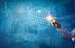 现代医疗与全球性连接和通信概念 库存例证