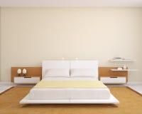 现代卧室。 向量例证