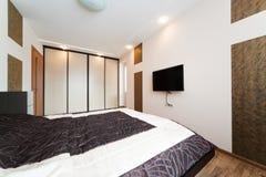 现代卧室 免版税图库摄影