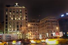 现代历史建筑Tepebasi伊斯坦布尔 免版税图库摄影