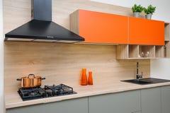 现代厨房的豪华 库存照片