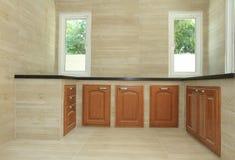 现代厨房空间 免版税库存图片