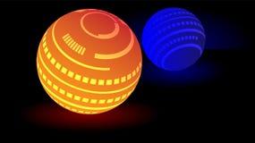 现代发光的球形球3d传染媒介 免版税库存图片