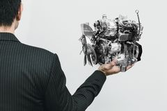 现代发动机小Eco和轻量级选手 免版税图库摄影
