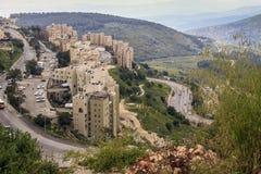 现代发展区采法特,以色列 免版税库存图片
