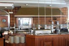 现代商业厨房 库存照片