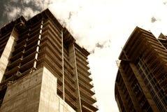 现代商业建筑的发展 库存照片