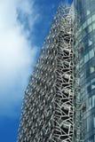 现代商业结构钢技术支持 库存照片