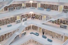 现代图书馆 库存照片