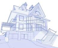 现代图纸的房子 向量例证