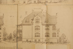 现代图纸的房子 库存图片