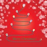 现代圣诞树 免版税库存图片