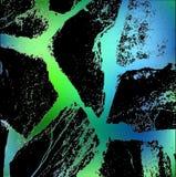 现代在黑背景的抽象青绿的线 Abstrac 库存照片