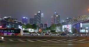 现代城市在晚上 昂贵在一个大城市在晚上 大都会在晚上 股票录像